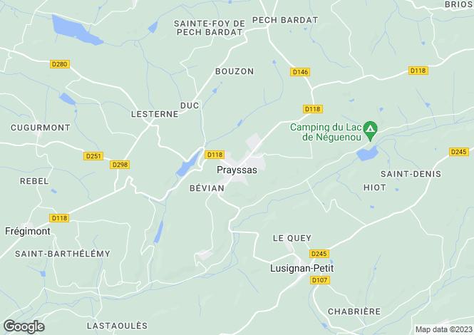 Map for Secteur: Prayssas, Lot et Garonne