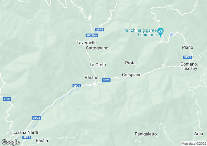 Map for Comano, Lunigiana, Italy
