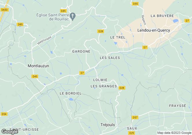 Map for st-laurent-lolmie, Lot, France