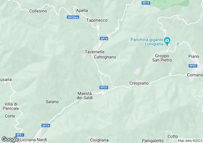 Map for Licciana Nardi, Lunigiana, Tuscany