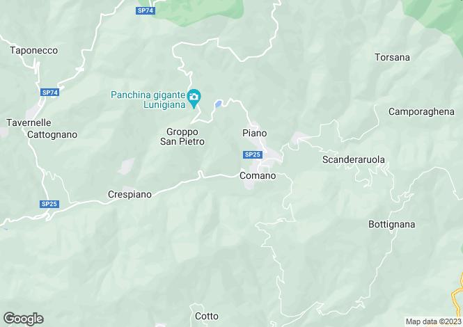 Map for Comano, Lunigiana, Italy