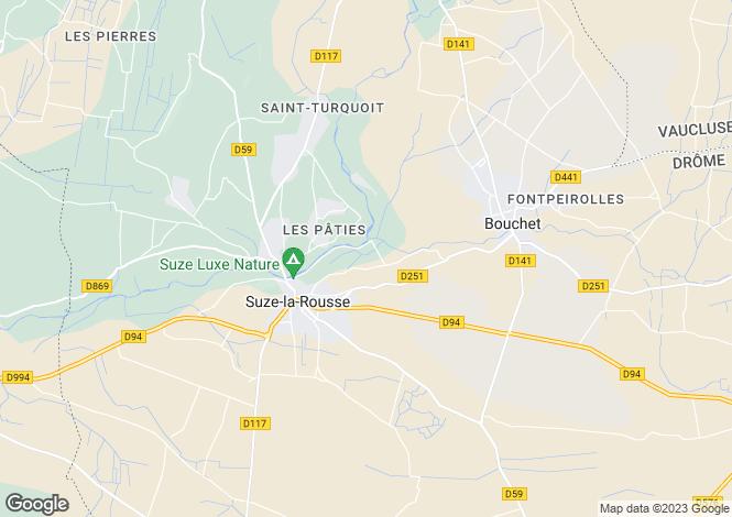 Map for suze-la-rousse, Drôme, France