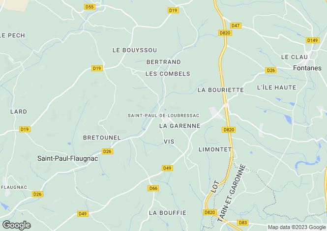 Map for La Lecune, St Paul de Loubressac, Lot