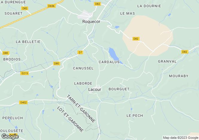 Map for lacour, Tarn-et-Garonne, France