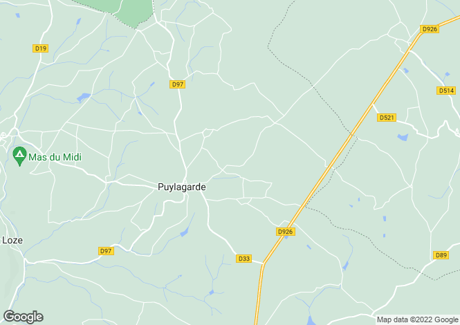Map for PUYLAGARDE, 82160, France