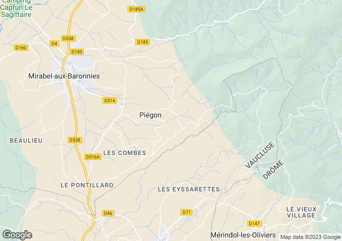 Map for piégon, Drôme, France