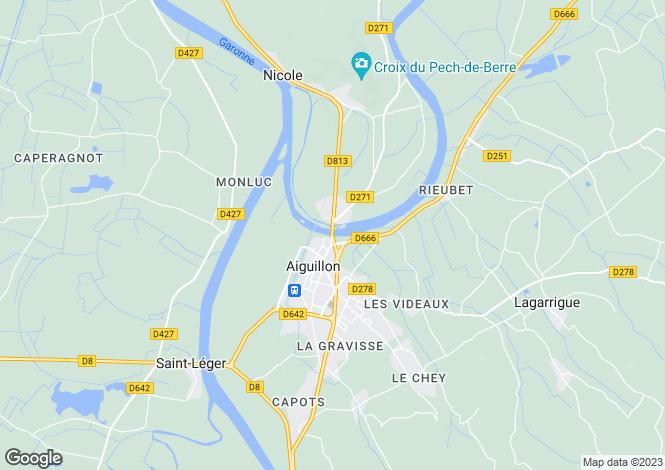 Map for Aiguillon, Lot-et-Garonne, Aquitaine