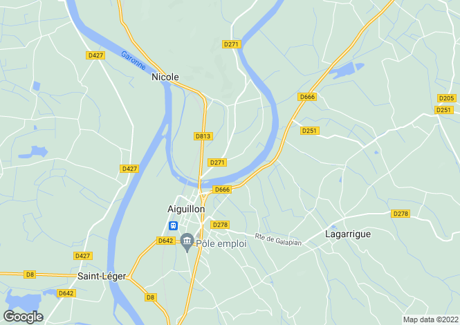 Map for aiguillon, Lot-et-Garonne, France