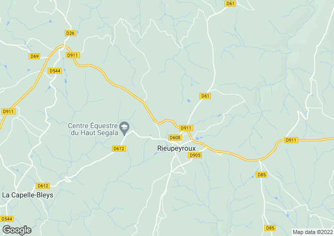 Map for Midi-Pyrenees, Aveyron, Rieupeyroux