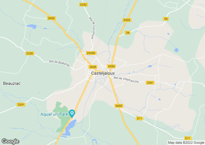 Map for Casteljaloux, Lot et Garonne, 47700, France