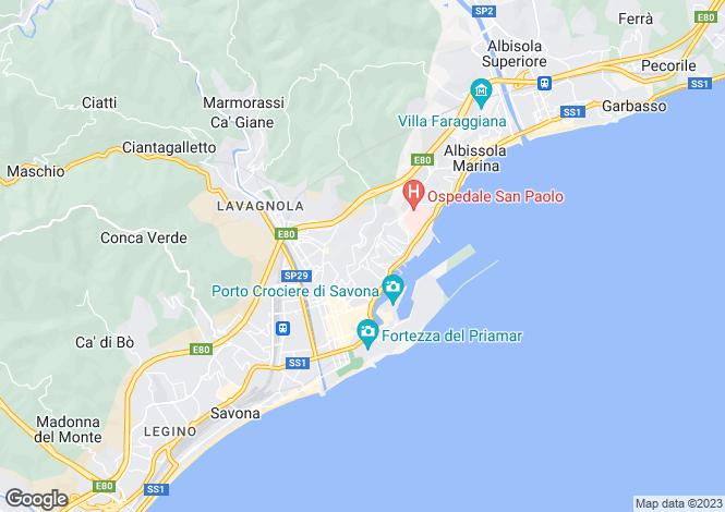 Map for Liguria, Savona, Savona