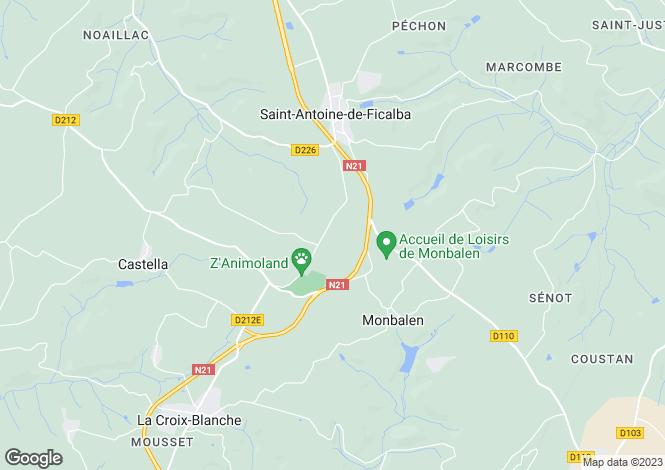 Map for monbalen, Lot-et-Garonne, France