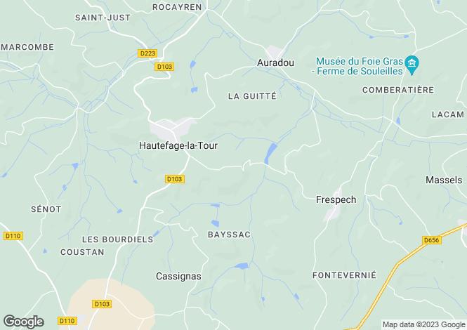 Map for Aquitaine, Lot-et-Garonne, Hautefage-la-Tour