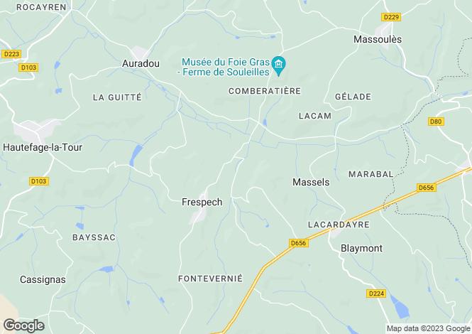 Map for frespech, Lot-et-Garonne, France