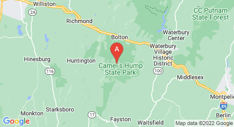 map of Camel's Hump (United States of America)