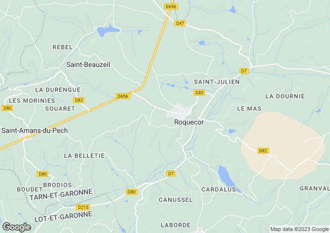 Map for ROQUECOR, Midi-Pyrénées