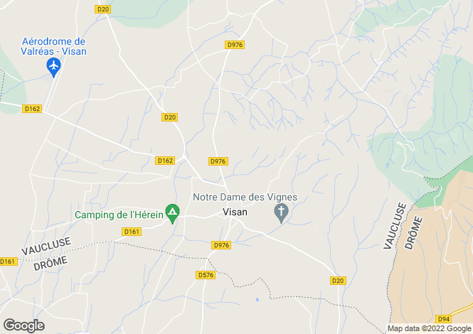 Map for visan, Vaucluse, France