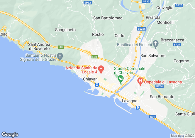 Map for Via Santa Chiara, 10, Chiavari, Liguria