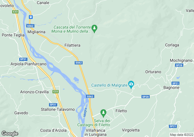 Map for Filattiera, Lunigiana, Italy