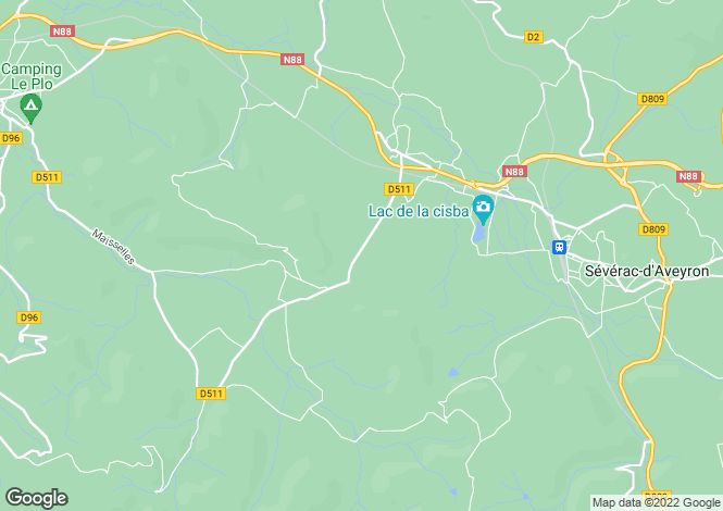 Map for Sévérac-le-Château, Aveyron, Midi-Pyrénées