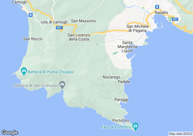 Map for Liguria, Italy
