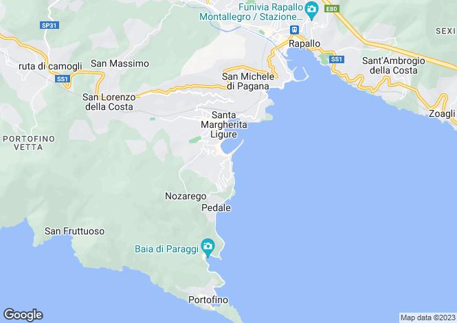 Map for Via Milite Ignoto, Santa Margherita Ligure, Liguria, Italy