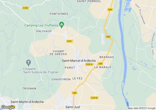 Map for saint-marcel-dardeche, Ardèche, France