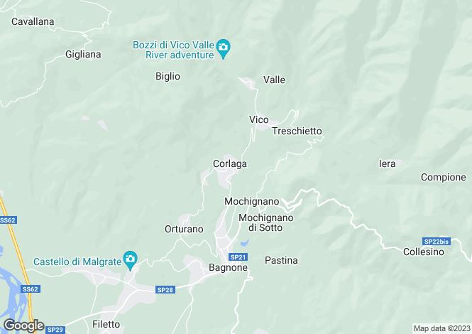Map for Bagnone, Lunigiana, Italy