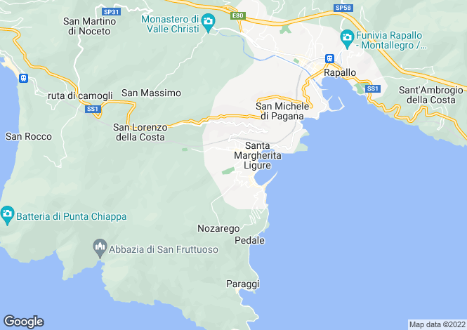 Map for Santa Margherita Ligure, Genoa, Liguria