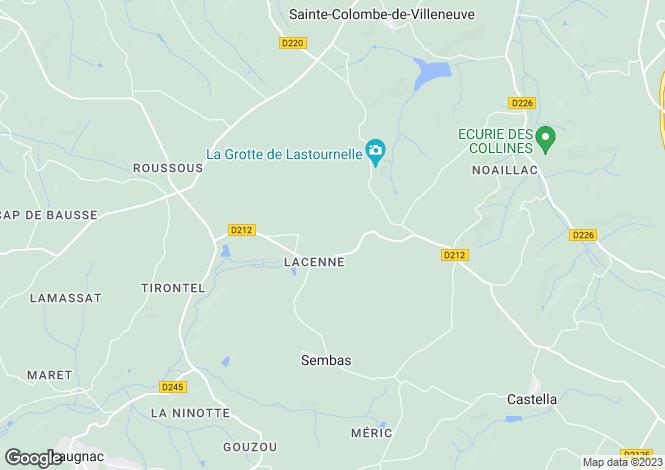 Map for sembas, Lot-et-Garonne, France