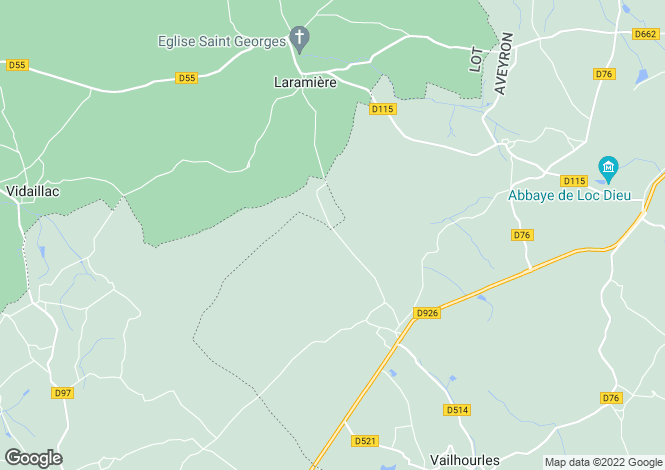Map for Midi-Pyrenees, Lot, Laramière