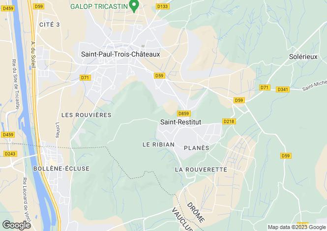 Map for st-restitut, Drôme, France