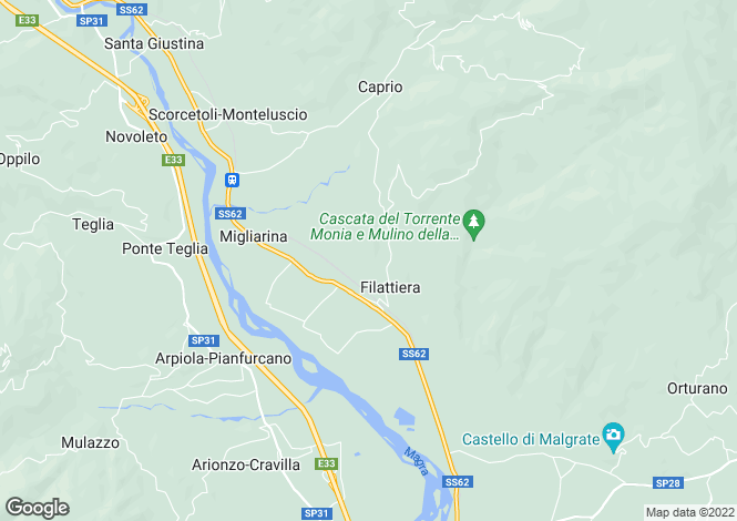 Map for Filattiera, Lunigiana, Italy
