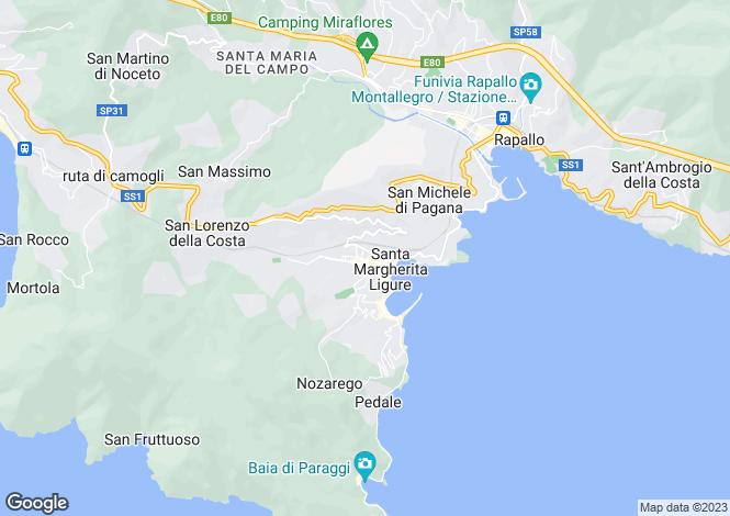Map for Santa Margherita Ligure, Liguria, Italy
