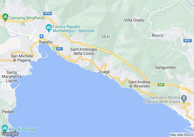 Map for Italy - Liguria, Genoa, Zoagli