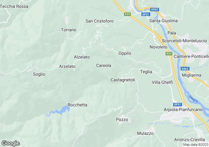 Map for Tuscany, Lunigiana, Mulazzo