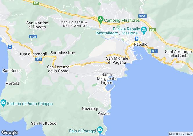 Map for Le Lantane, Via Privata Giovo, Santa Margherita, Liguria