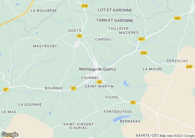 Map for Near Montaigu de Quercy, Tarn Et Garonne, Midi Pyrenees, France