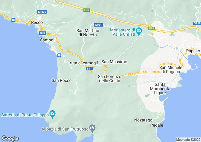 Map for Liguria, Genoa, Santa Margherita Ligure