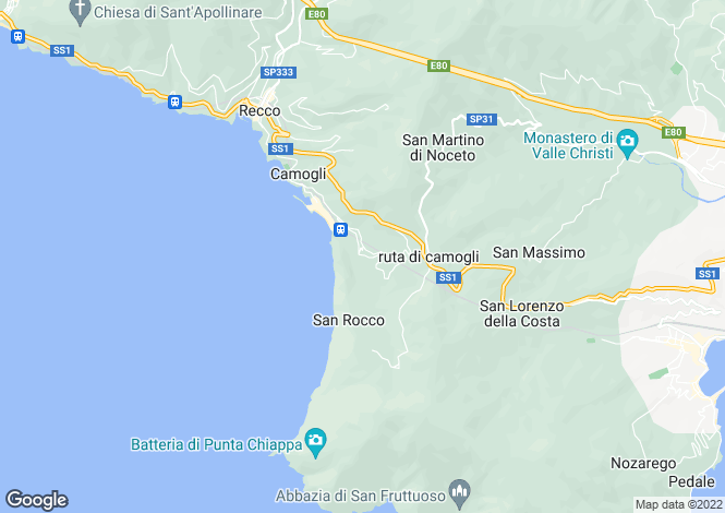 Map for Via Castagneto, Camogli, Liguria, Italy