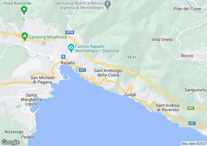 Map for Sant'Ambrogio, Zoagli, Liguria, Italy