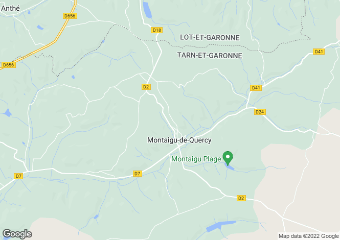 Map for MONTAIGU DE QUERCY, 82150, France