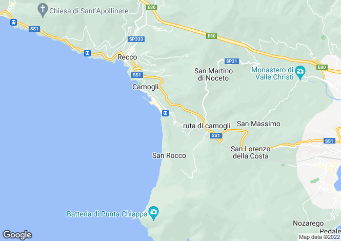 Map for Liguria, Genoa, Camogli