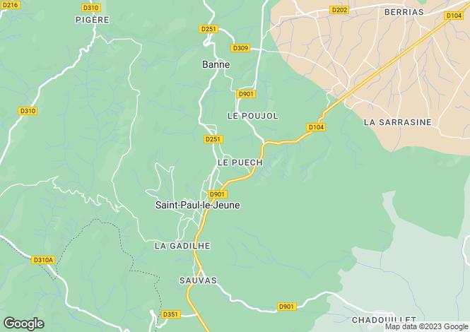 Map for st-paul-le-jeune, Ardèche, France