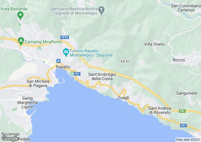 Map for Zoagli, Genova, Italy