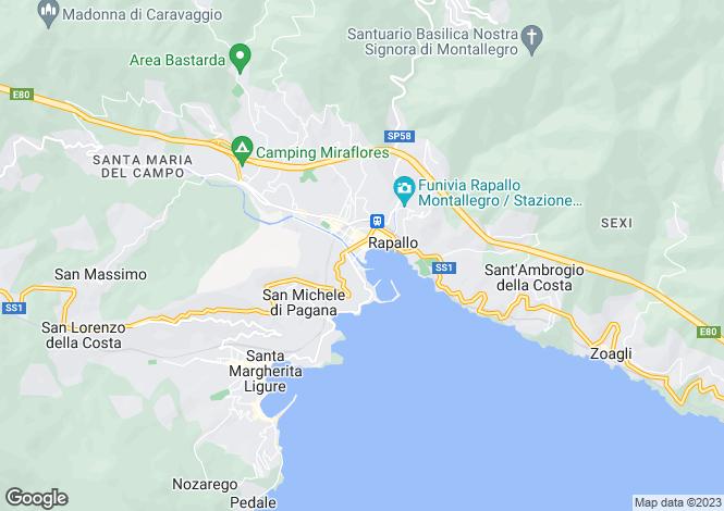 Map for Liguria, Genoa, Rapallo