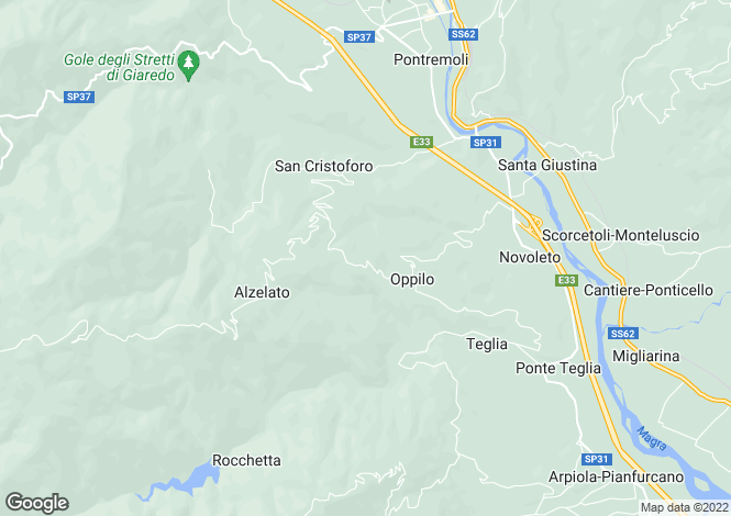 Map for Tuscany, Lunigiana, Pontremoli