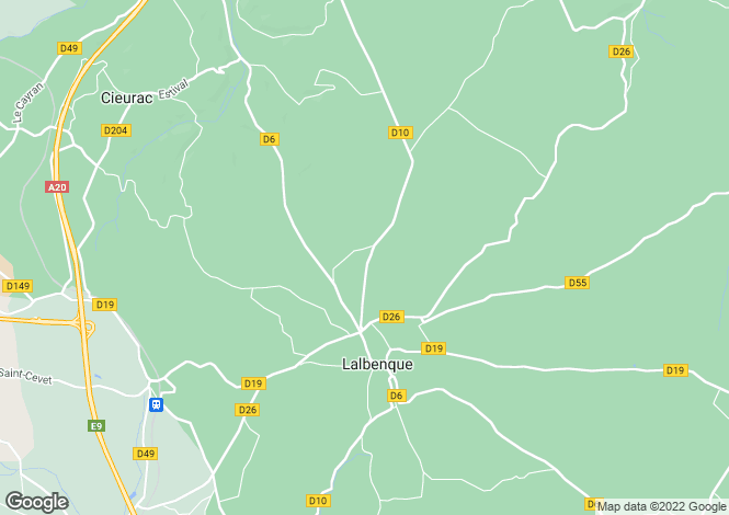 Map for Lalbenque, 46, France