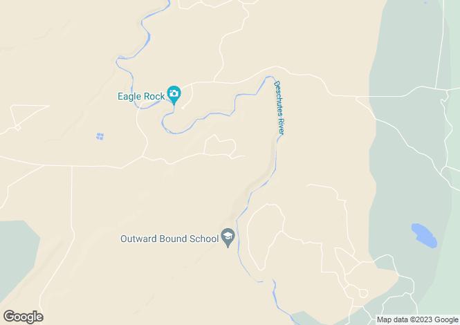 Map for Oregon, Deschutes County, Terrebonne