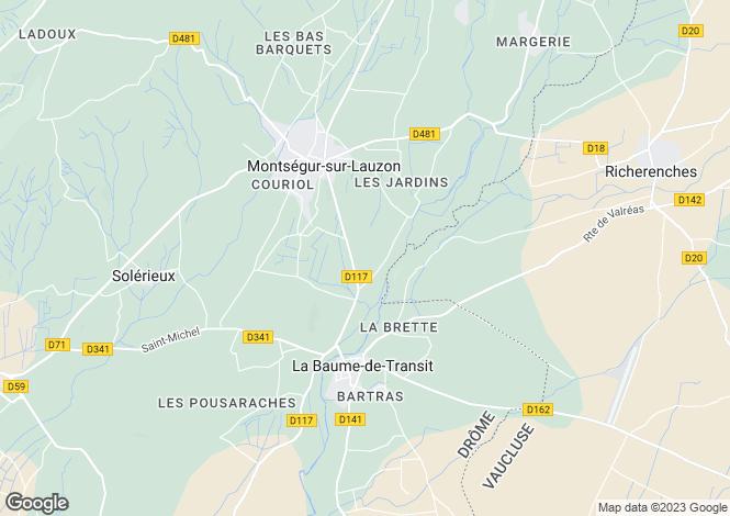 Map for la-baume-de-transit, Drôme, France
